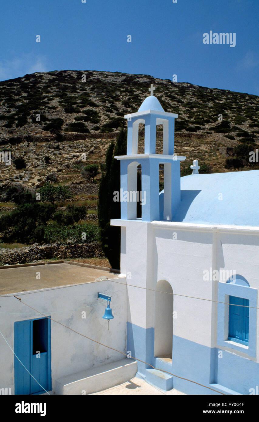 Kassos, Fri, Kloster Agios Georgis Chadion, Fassade - Stock Image