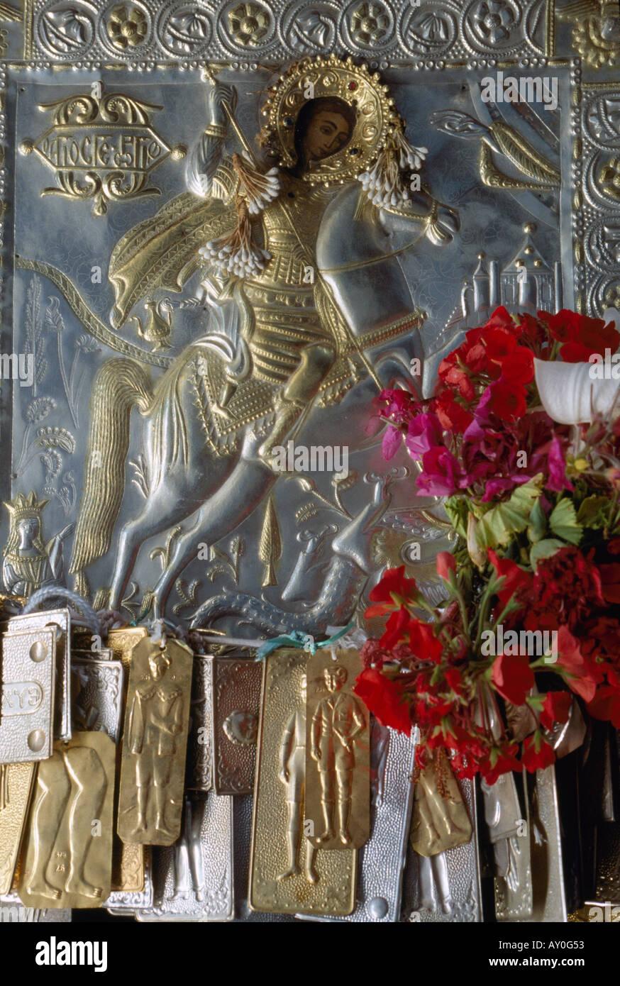 Kassos, Fri, Kloster Agios Georgis Chadion, Relief - Stock Image