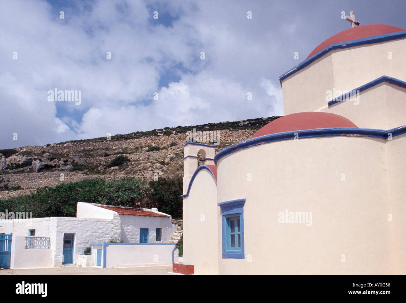 Kassos, Fri, Nonnenkloster Agios Mamas, Fassade - Stock Image