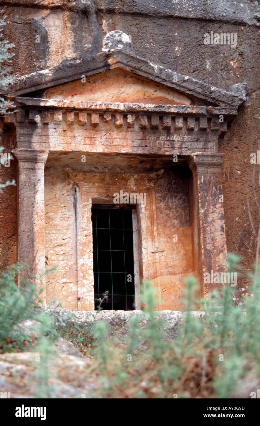 Kastellorizo, Lykisches Felsengrab, Portikus - Stock Image