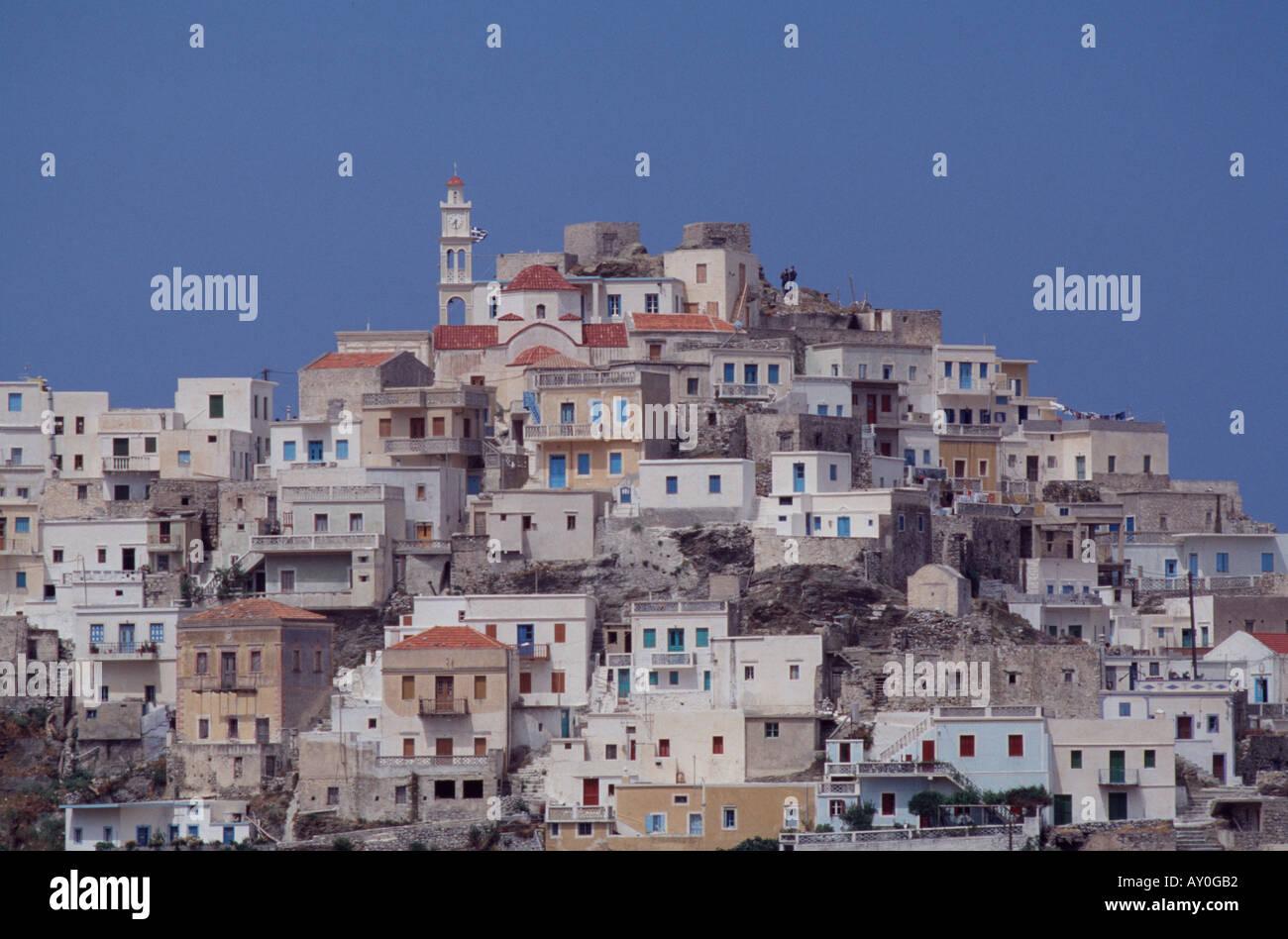 Karpathos, Hauptort Olympos, Übersicht - Stock Image