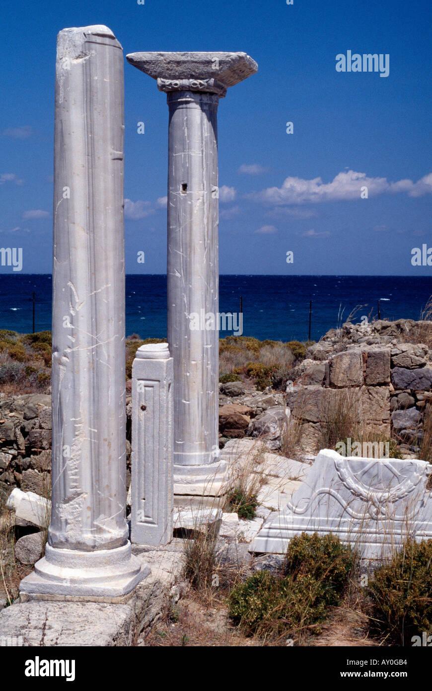 Karpathos, Ruine einer byzantinischen Kirche bei Pigadia, Ruine - Stock Image