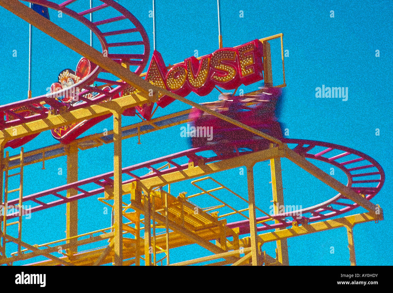 an artistic rendition of an exhilarating motion filled ride at a local amusement park near salt lake city utah usa