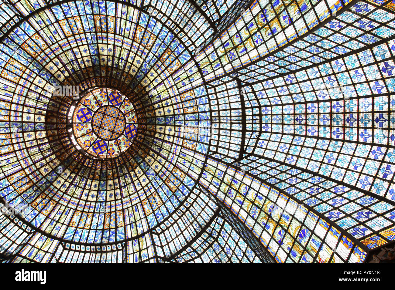 The Dome at Printemps Department Store Restaurant, Paris, France - Stock Image