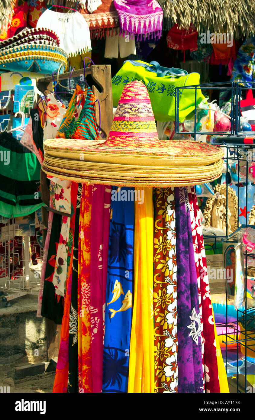 local craft shops mexican sombrero and various local craft items in a shop 2355