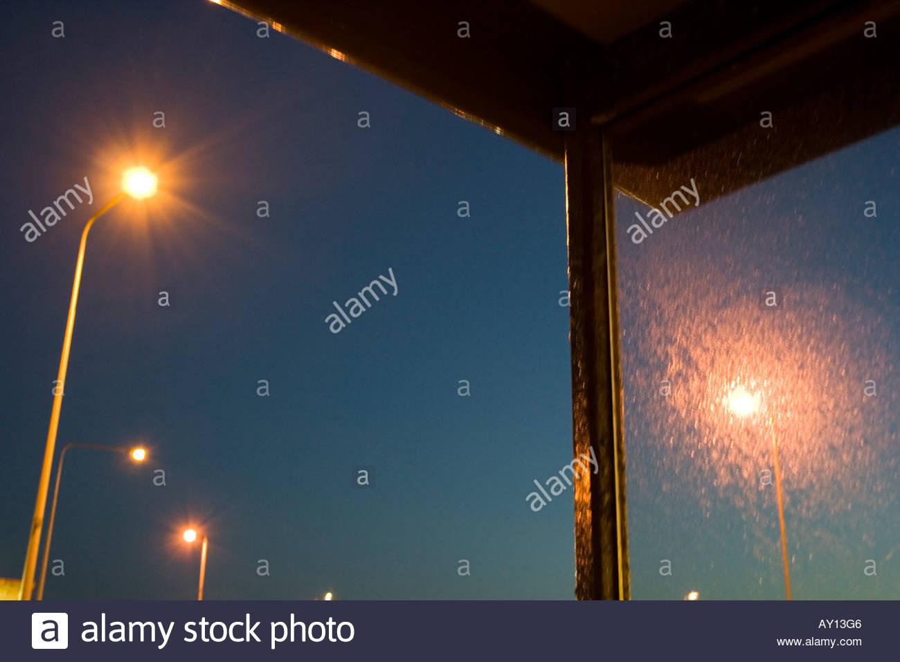 Portsmouth Sreet Lighting - Stock Image