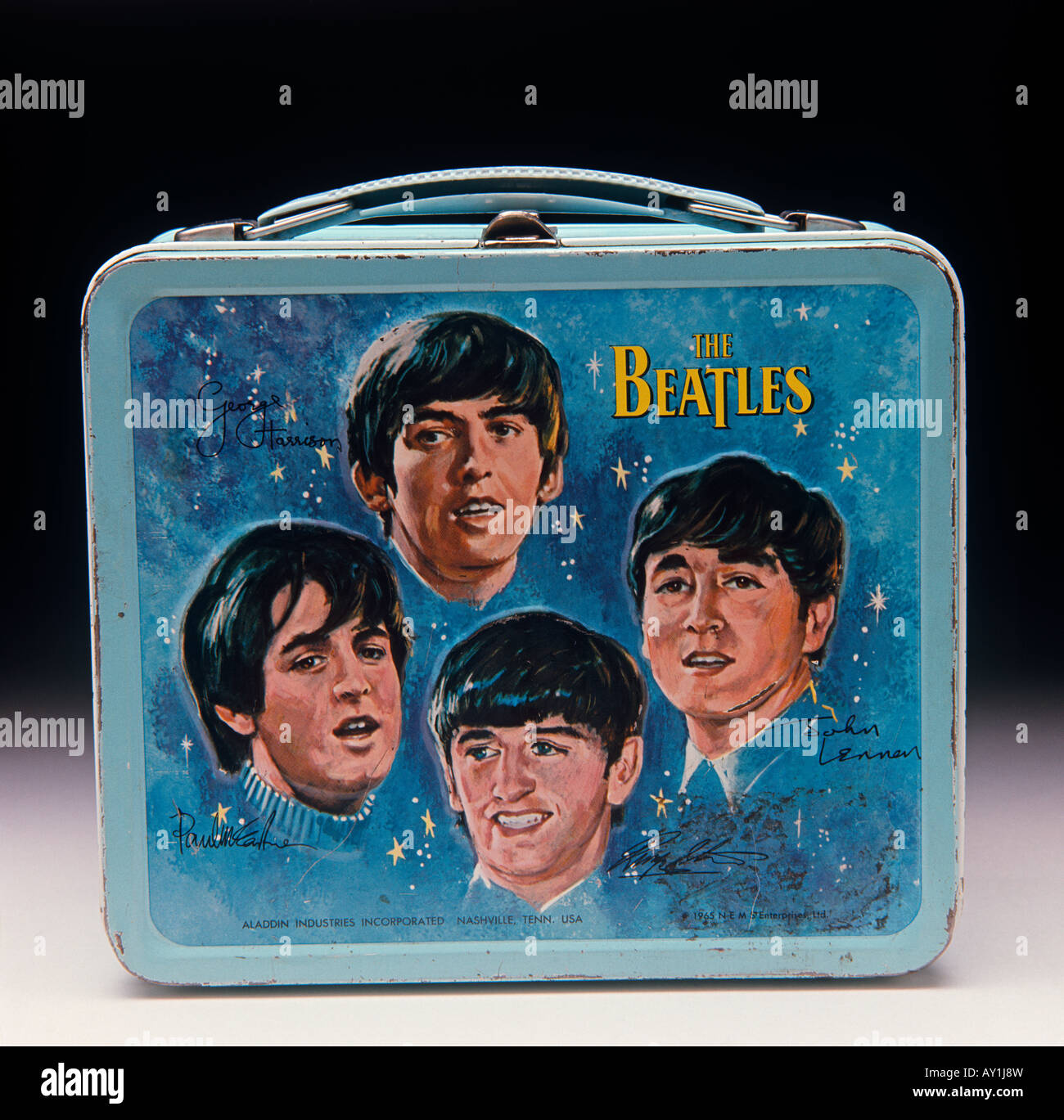 Beatles Lunch Box collectable memorabilia - Stock Image