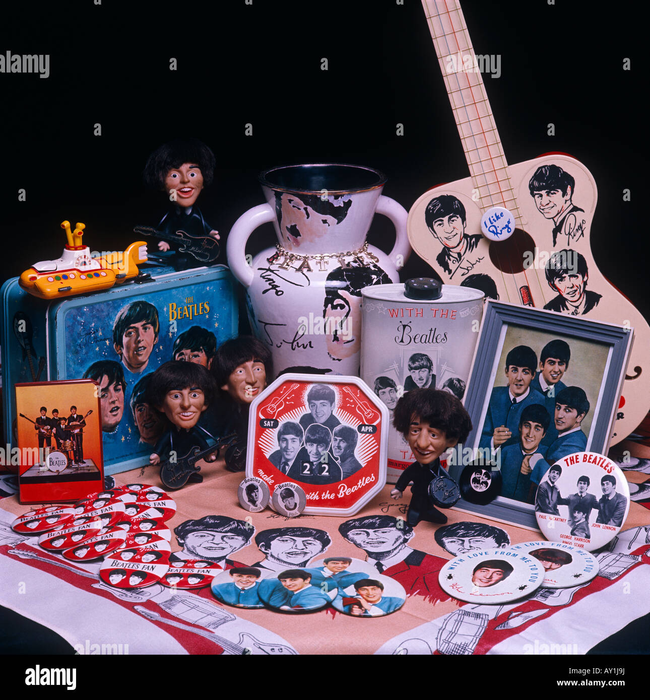 Beatles memorabilia and collectables - Stock Image
