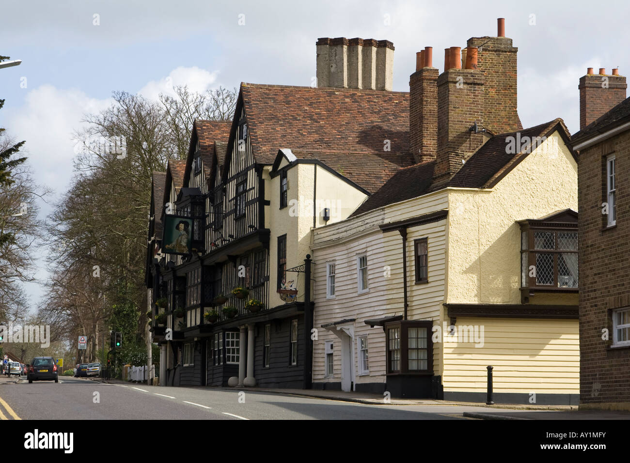 Ye Olde King's Head public house, Chigwell, Essex, UK. - Stock Image