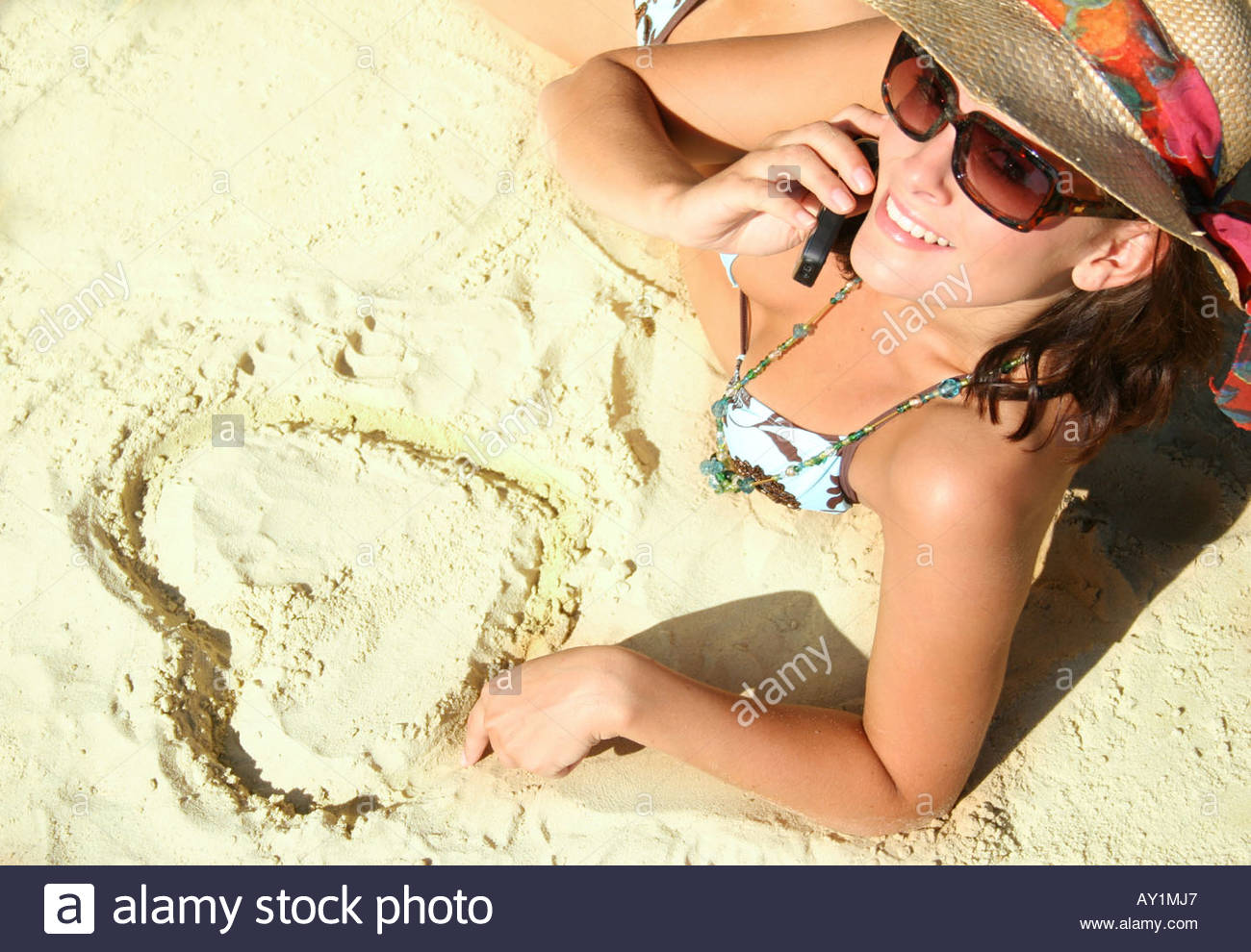 woman at the beach - Stock Image
