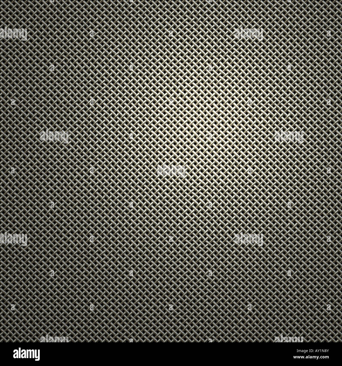 seamless background image of woven wire mesh - Stock Image