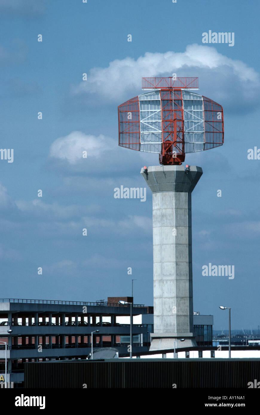 Radar at Frankfurt airport - Stock Image