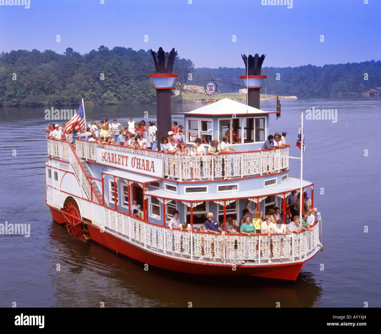 Paddlewheel Riverboat Scarlett O Hara On Stone Mountain Lake Stock