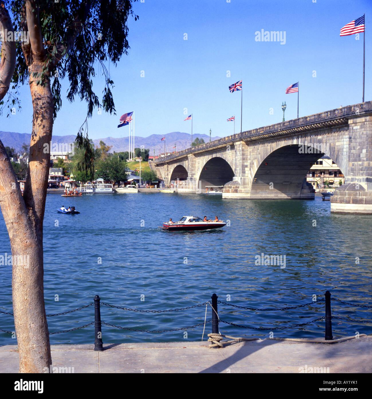 The Original London Bridge Now Spanning Lake Havasu In Arizona Usa Stock Photo Alamy