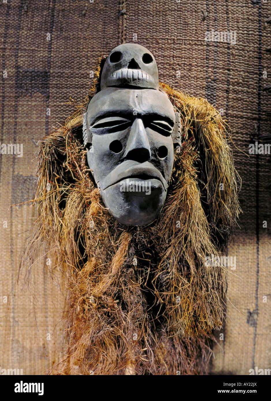 fine arts, Africa, sculpture, masks, Ibibio dancing mask, wood carving, Nigeria, Ethnological Museum Berlin, Artist's - Stock Image