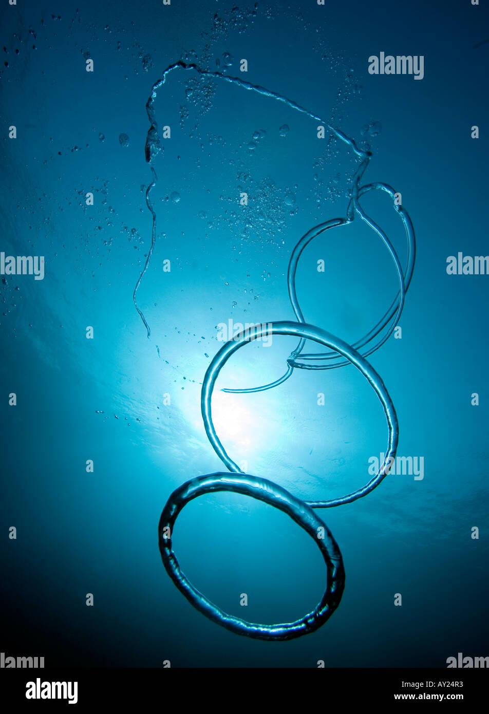 picture photo and bubble stock man underwater in rings pool making