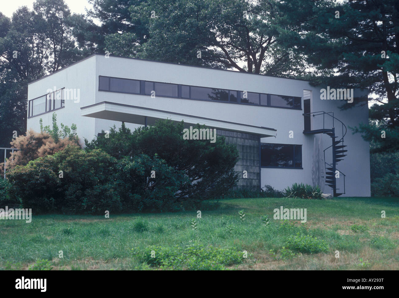 American Modern Movement Rural House Built By Architect Walter Stock