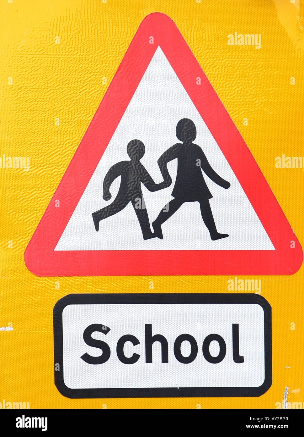 Road Signs Signals in London UK School - Stock Image