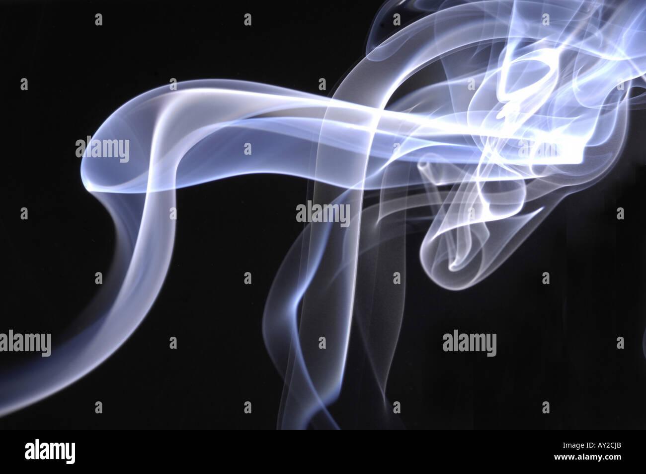 smoke trails blue black abstract art arty horizontal design smokey
