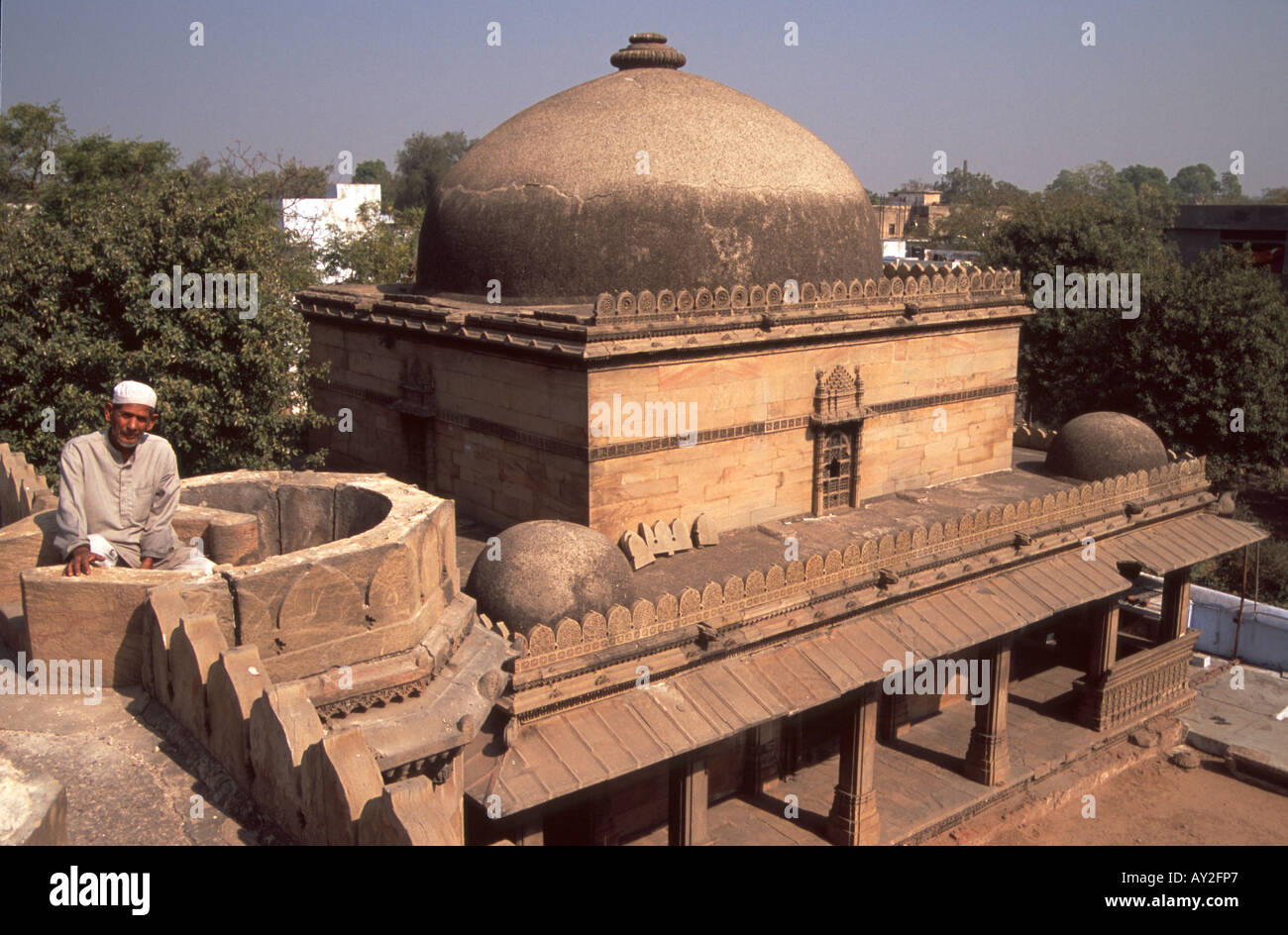 Bai Harir mosque and tomb complex in Ahmedabad, Gujarat, India. - Stock Image