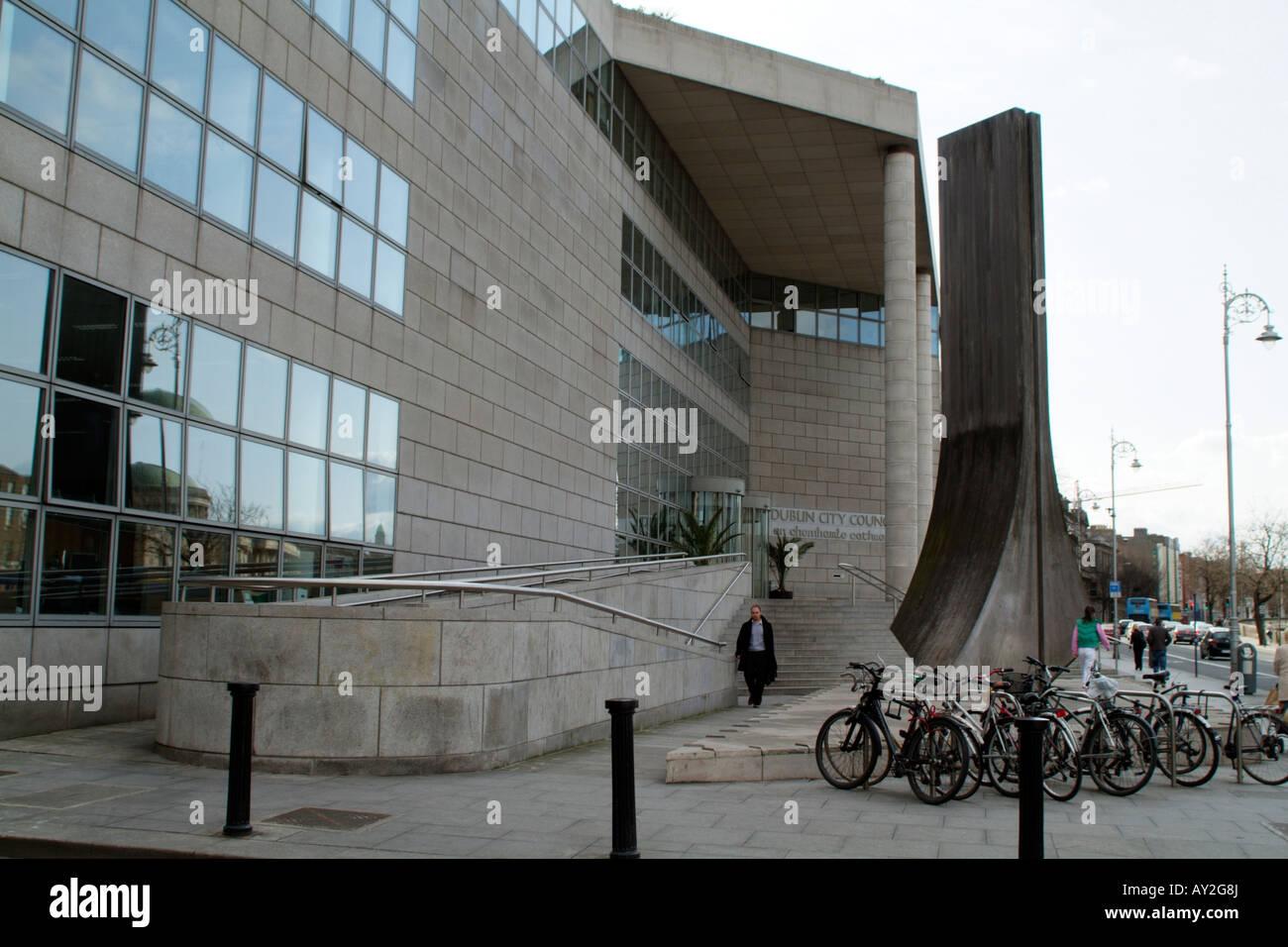 Dublin City Council Offices on Wood Quay Dublin Ireland - Stock Image