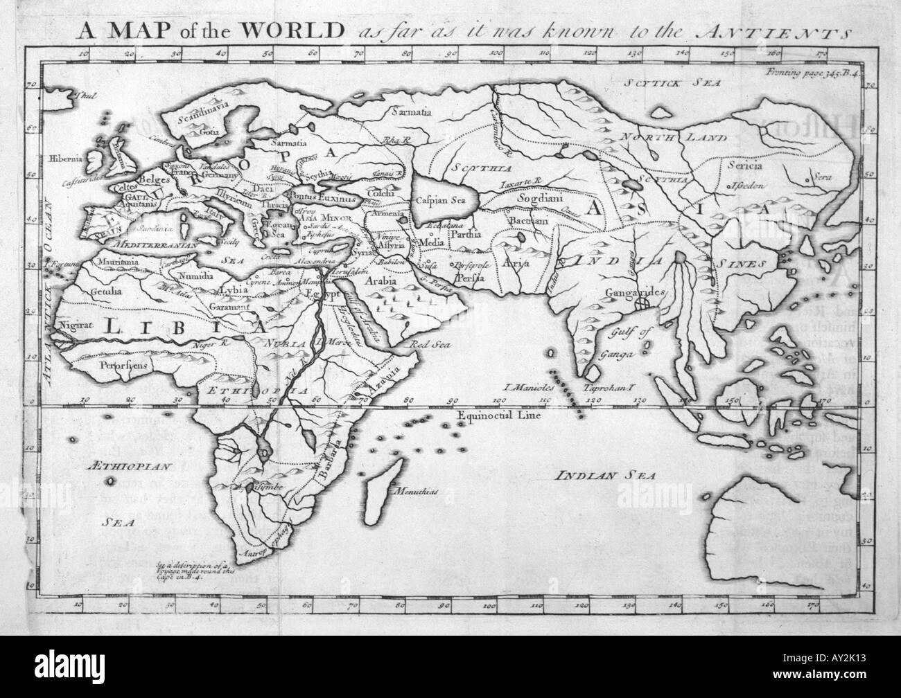 Maps World Herodotus Stock Photo 5540626 Alamy