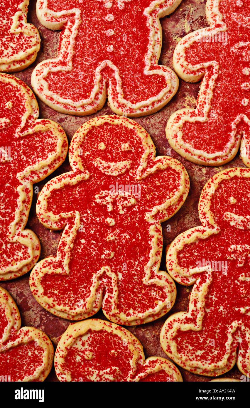 Rows Of Gingerbread Men Sugar Cookies Stock Photo 16972200 Alamy