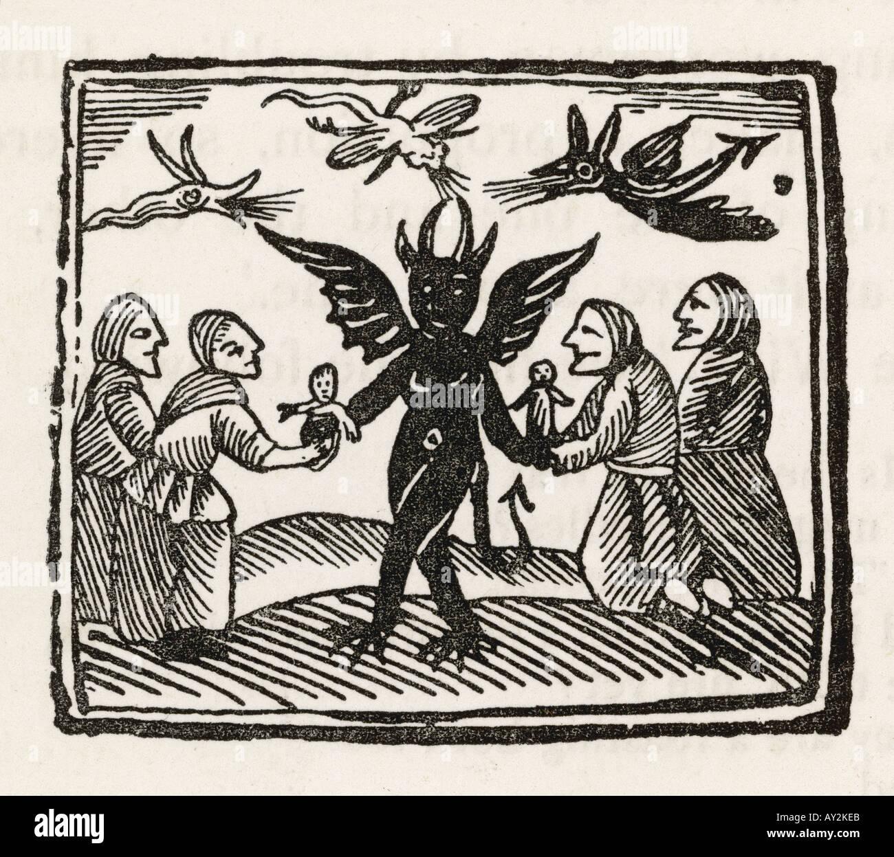 Demon Dancing - Stock Image
