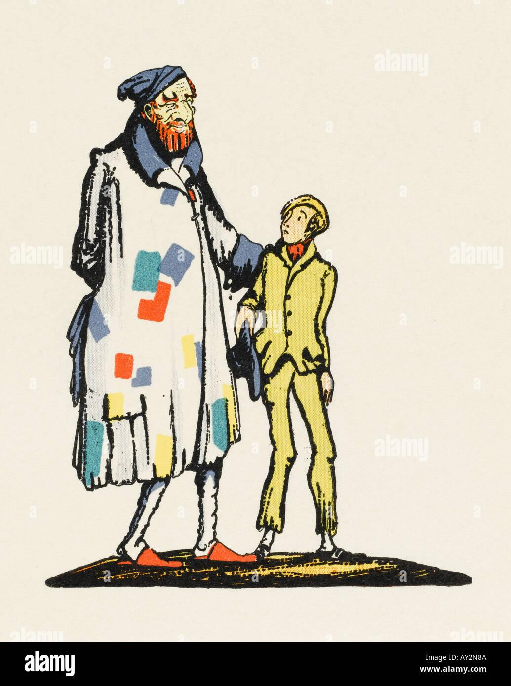 pastel drawing Fagin in Oliver Twist fine art 8x8.5