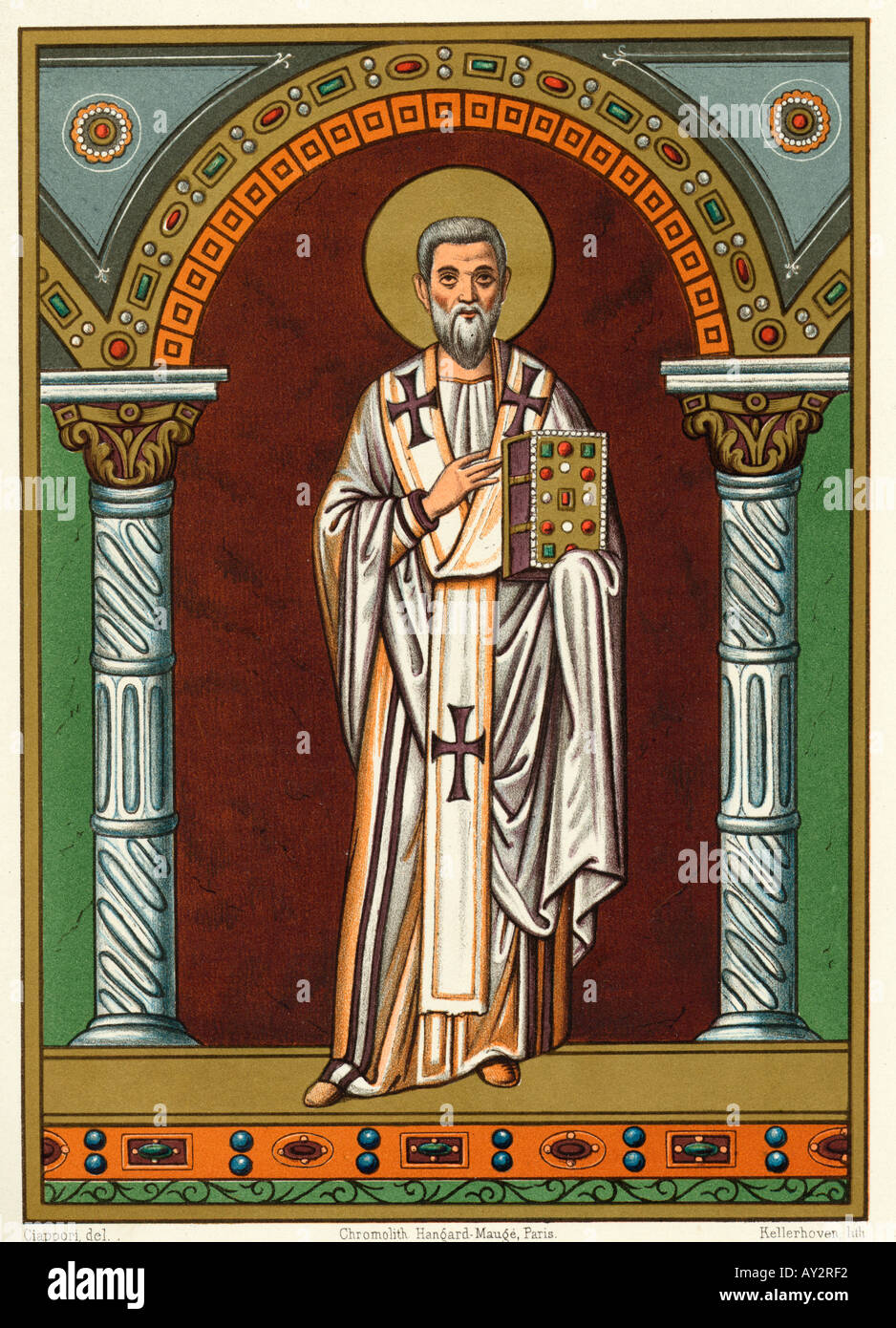 St Gregory Of Nazianzus Stock Photo - Alamy