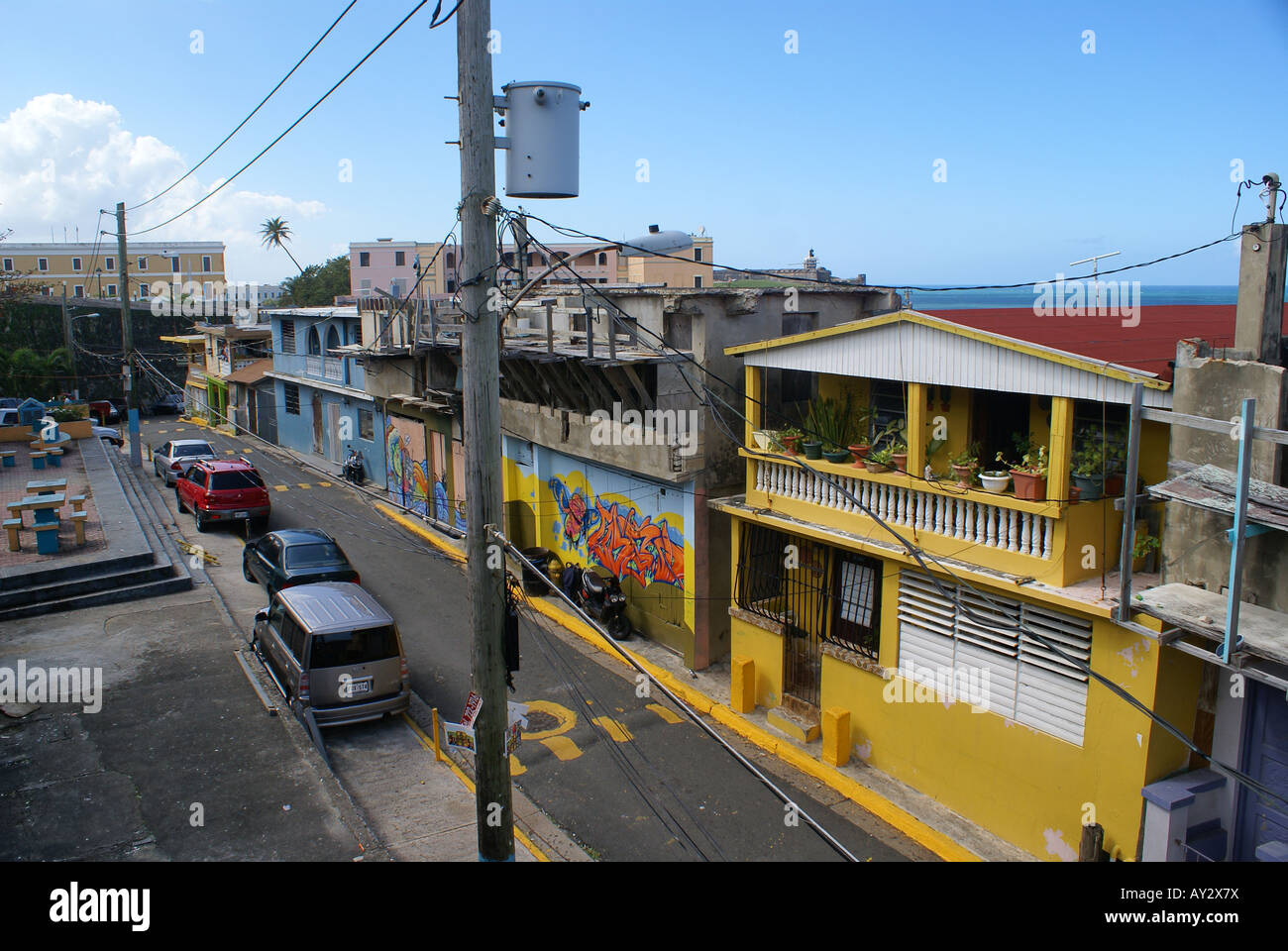 Slums in Old San Juan, Puerto Rico - Stock Image