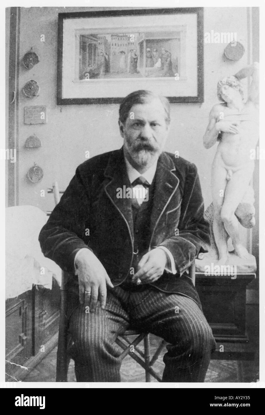 Sigmund Freud 1914 Neg 6 - Stock Image