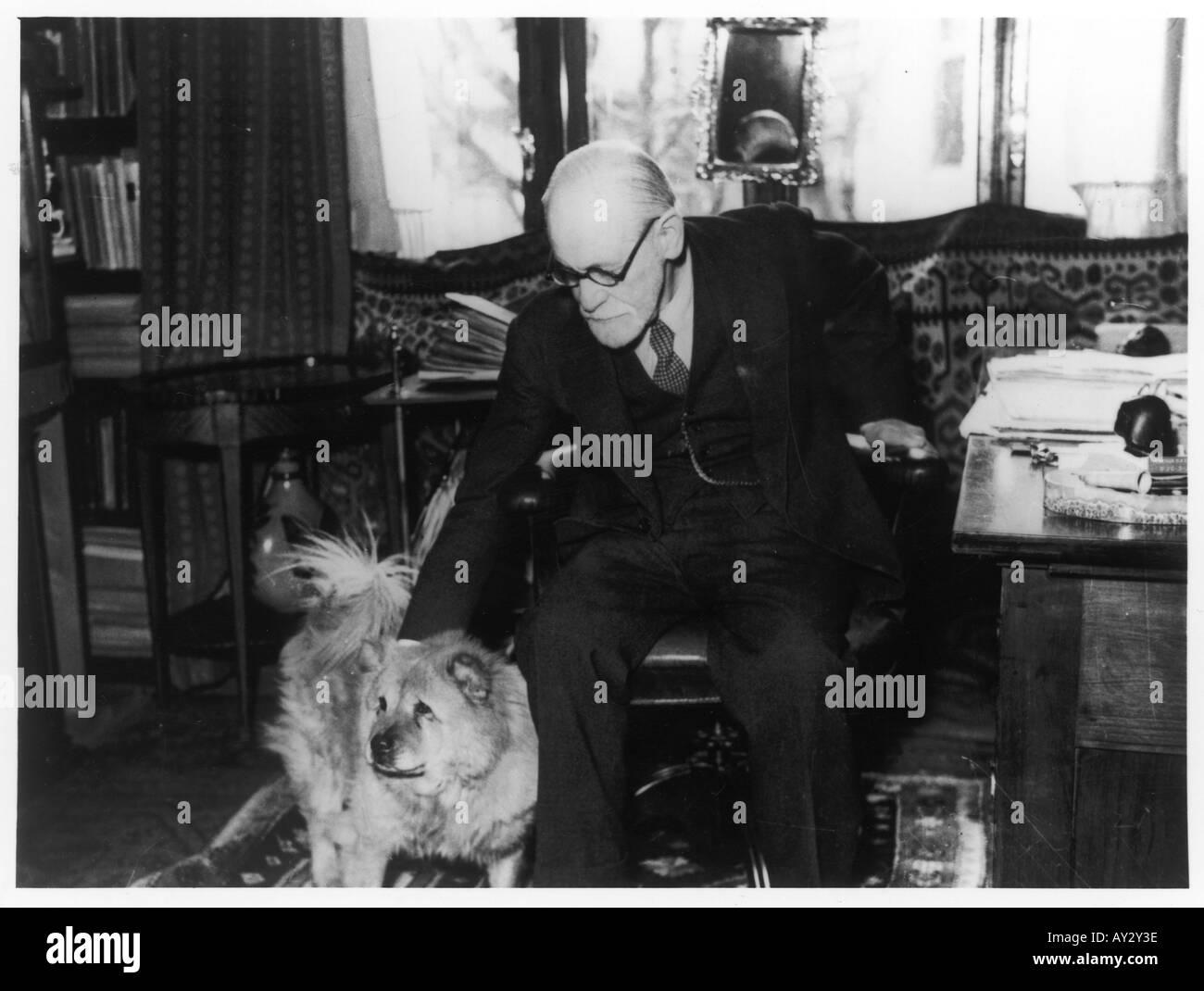 Sigmund Freud 1937 Neg24 - Stock Image