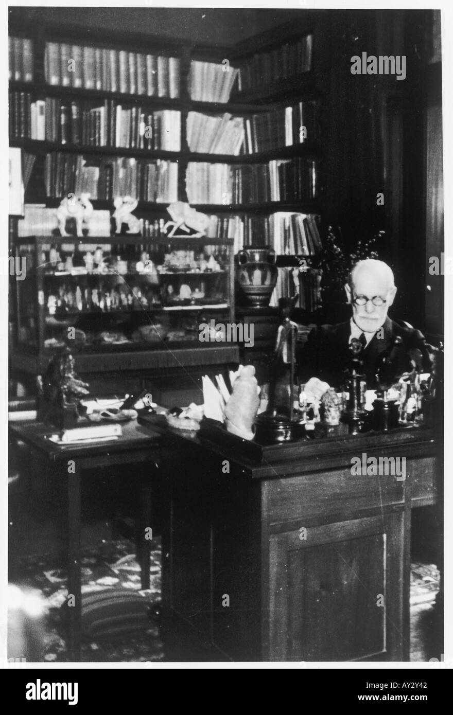 Sigmund Freud 1937 25a - Stock Image