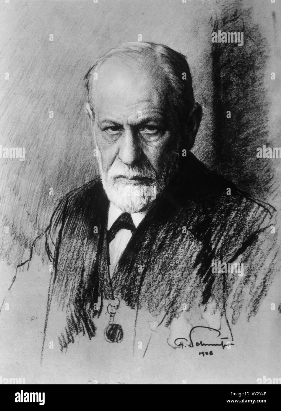 Sigmund Freud 1926 Neg13 - Stock Image