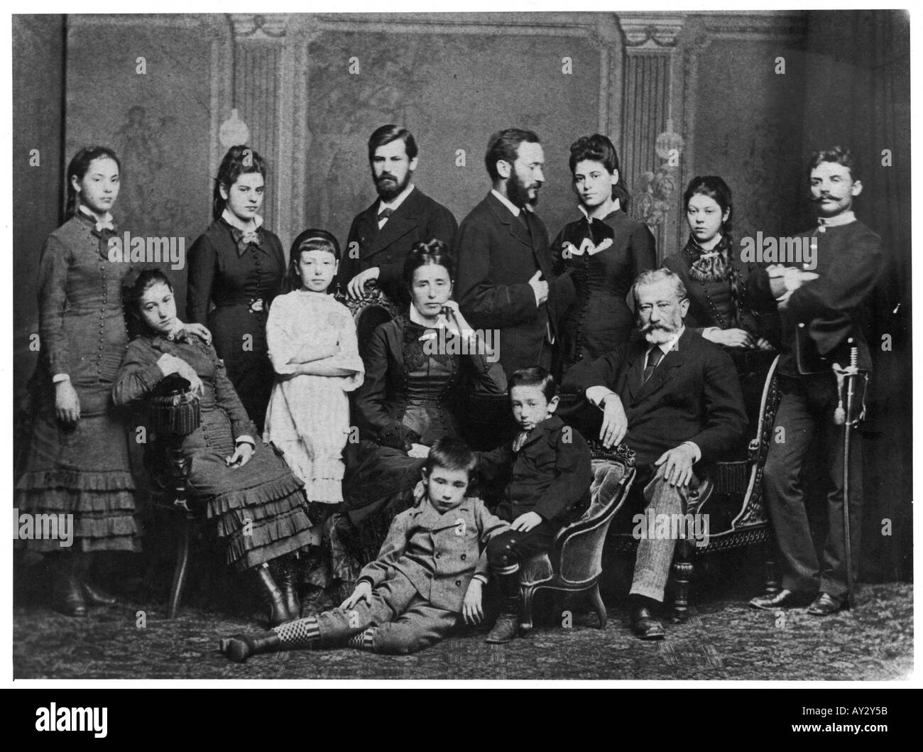 Freud Family 1876 Stock Photo