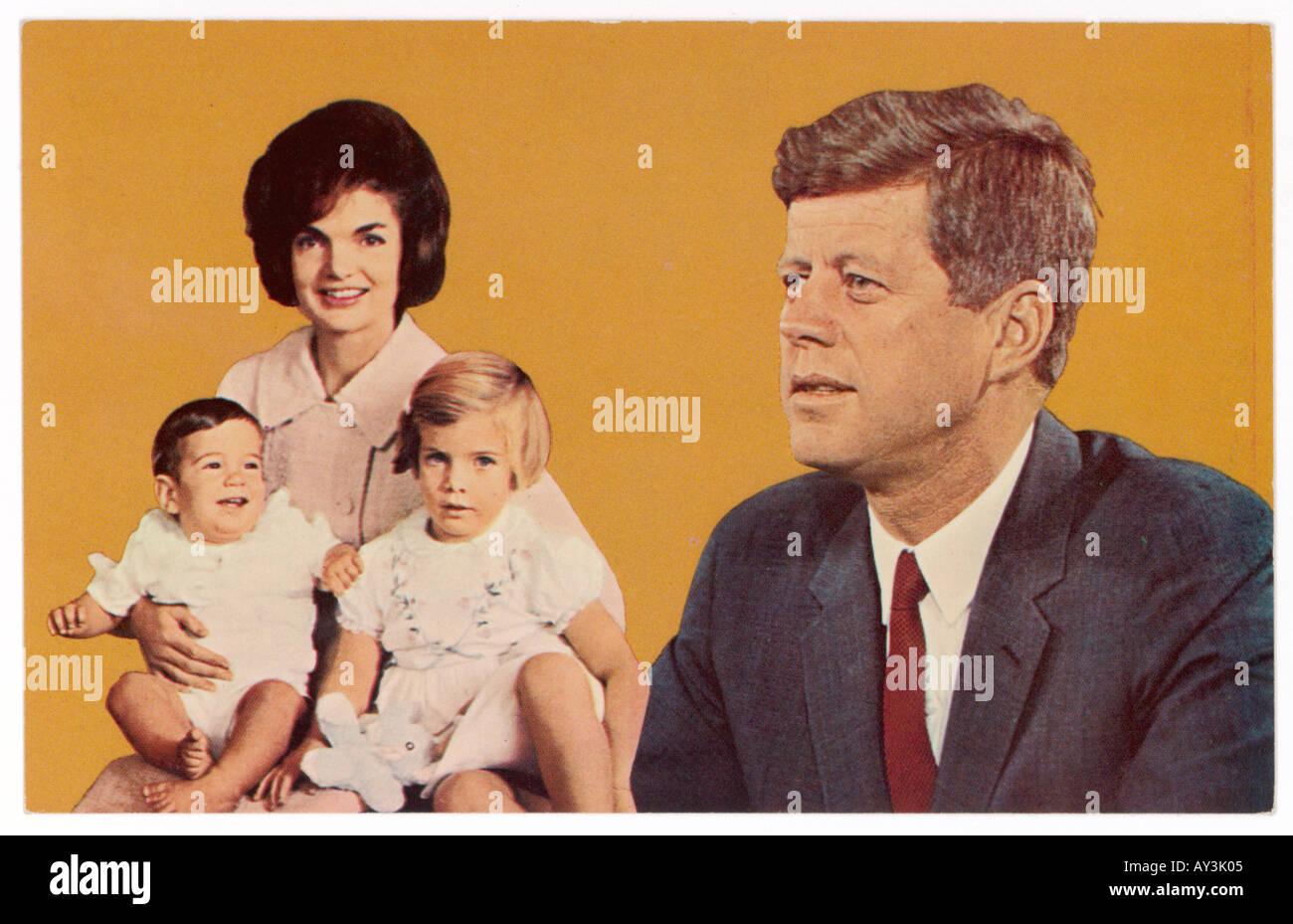 Jfk And Family - Stock Image