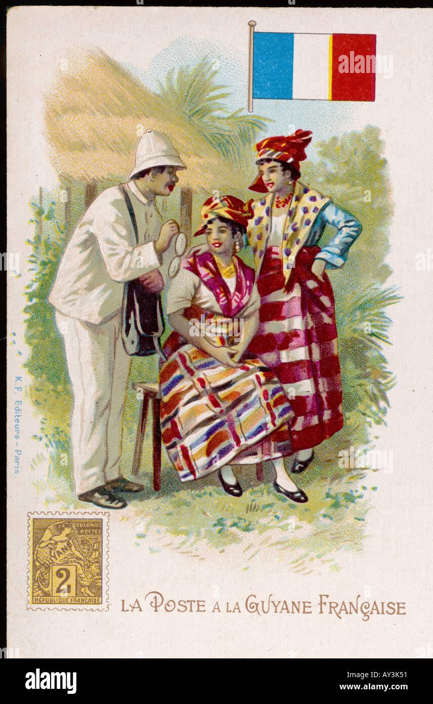 Postman Of French Guyana - Stock Image