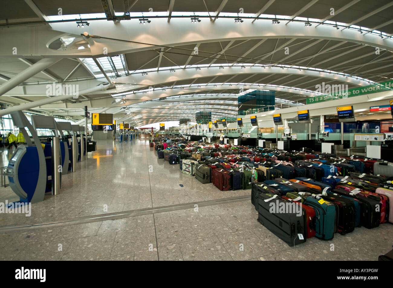 Baggage  in london Heathrow Terminal 5 - Stock Image