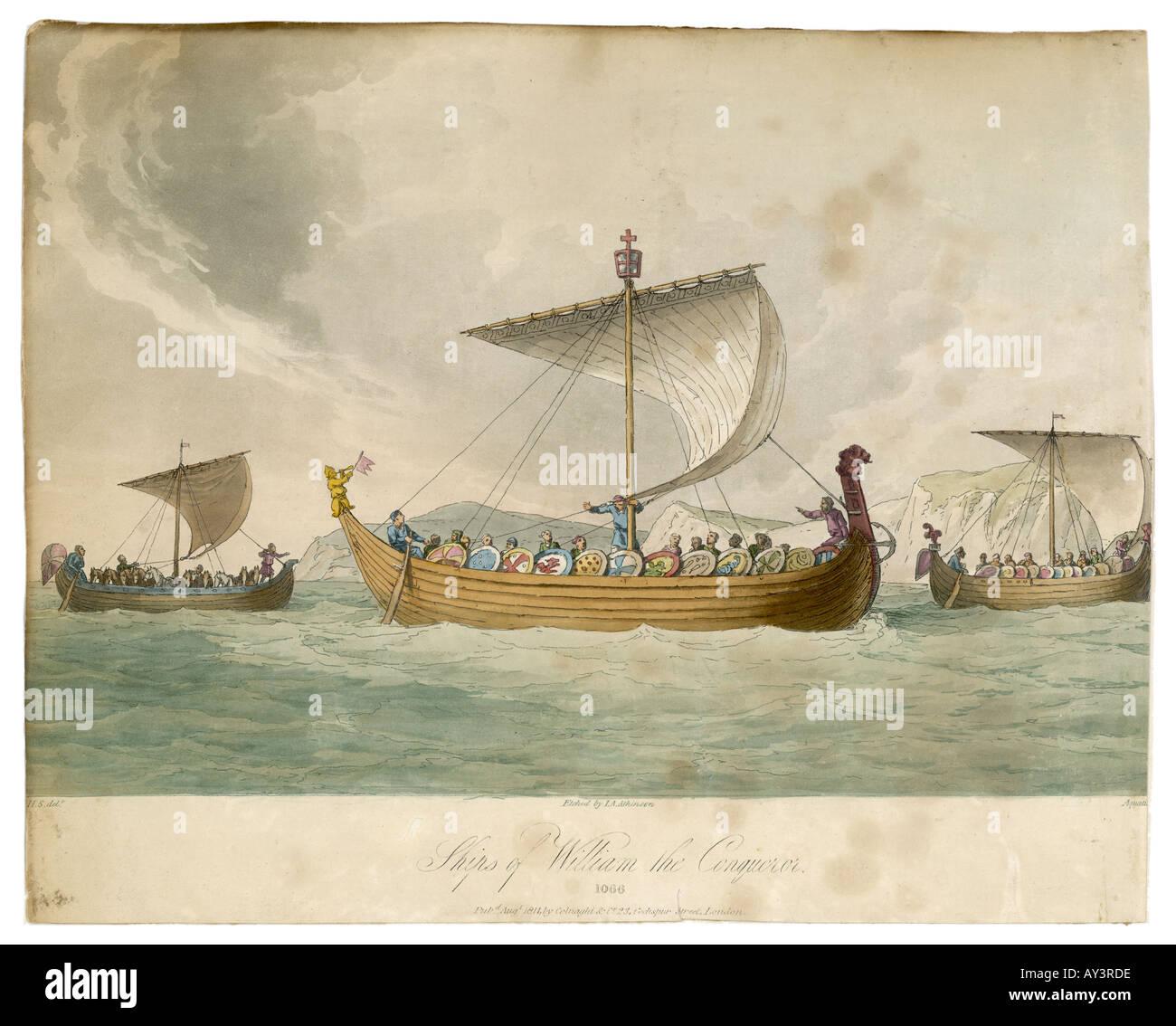 William Conqueror Ships - Stock Image