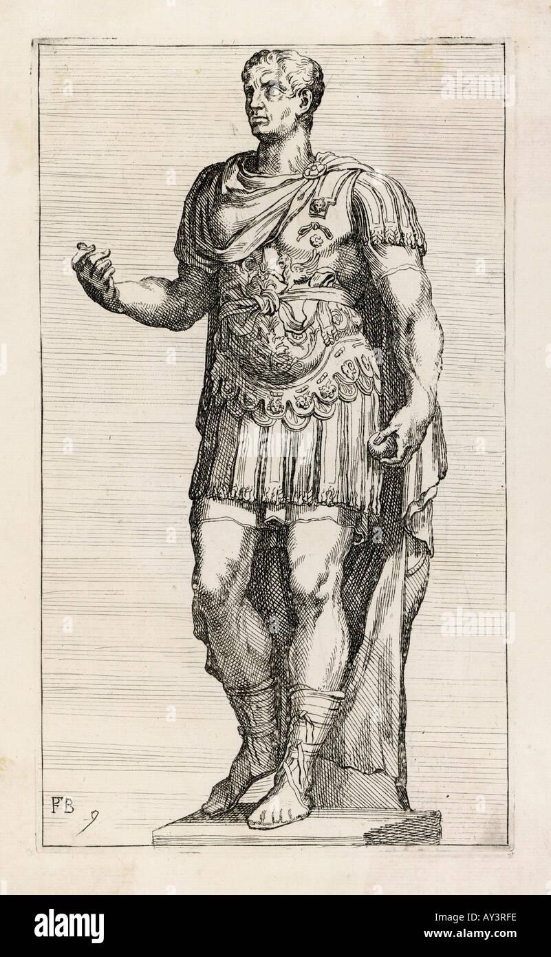 Julius Caesar Statue - Stock Image