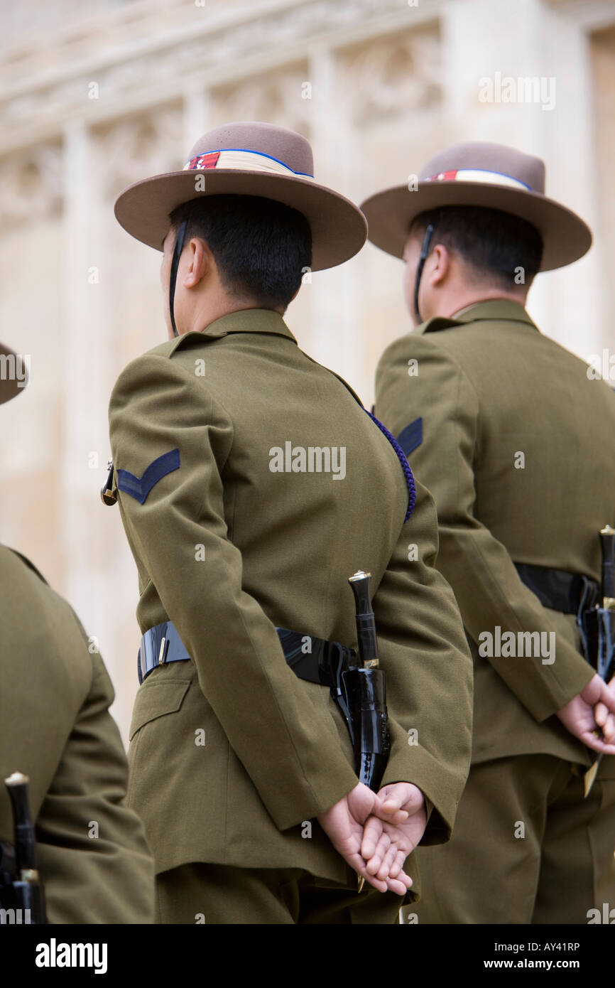 f8823a4246b Gurkha s from the Royal Gurkha Rifles forming an honour guard on the steps  of St George