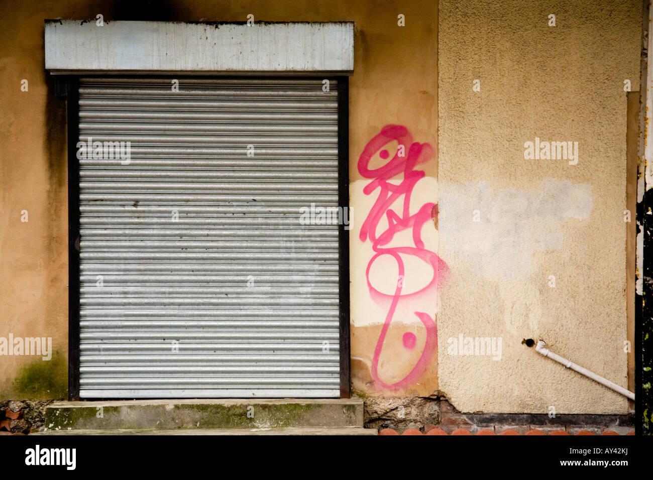 Garage Door Graffiti Stock Photos Garage Door Graffiti Stock