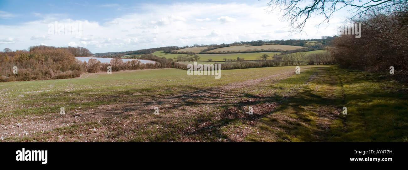 Chiltern Hills Panorama - Stock Image