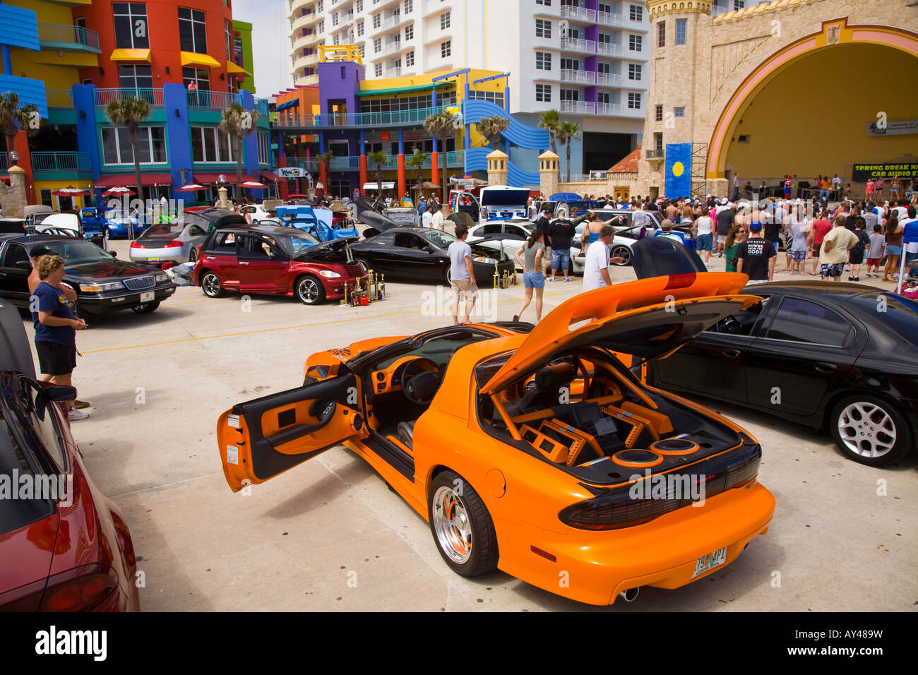 Enthusiasts At American Car Show Car Show In Daytona Beach