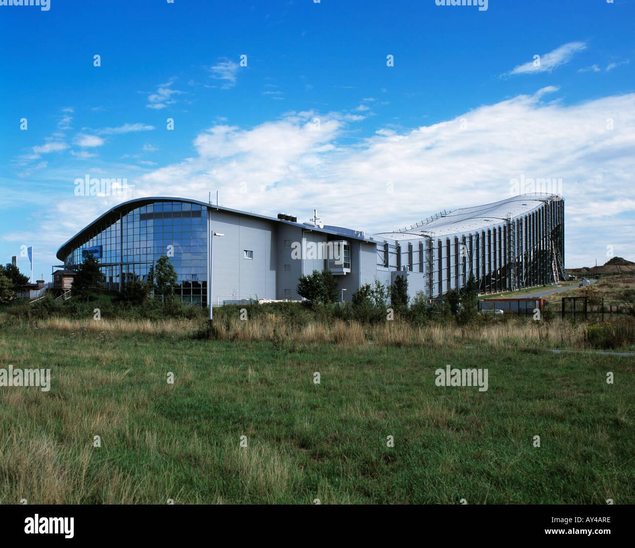 D-Neuss, Lower Rhine, North Rhine-Westphalia, the Ski Hall Winterworld was opened in 2001 - Stock Image