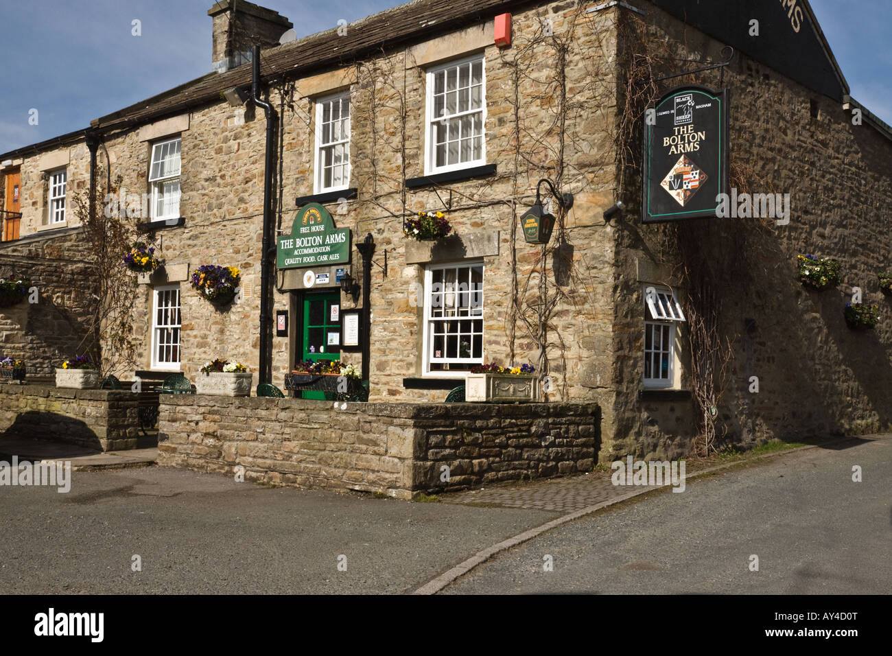 The Bolton Arms, village pub at Redmire, Wensleydale - Stock Image
