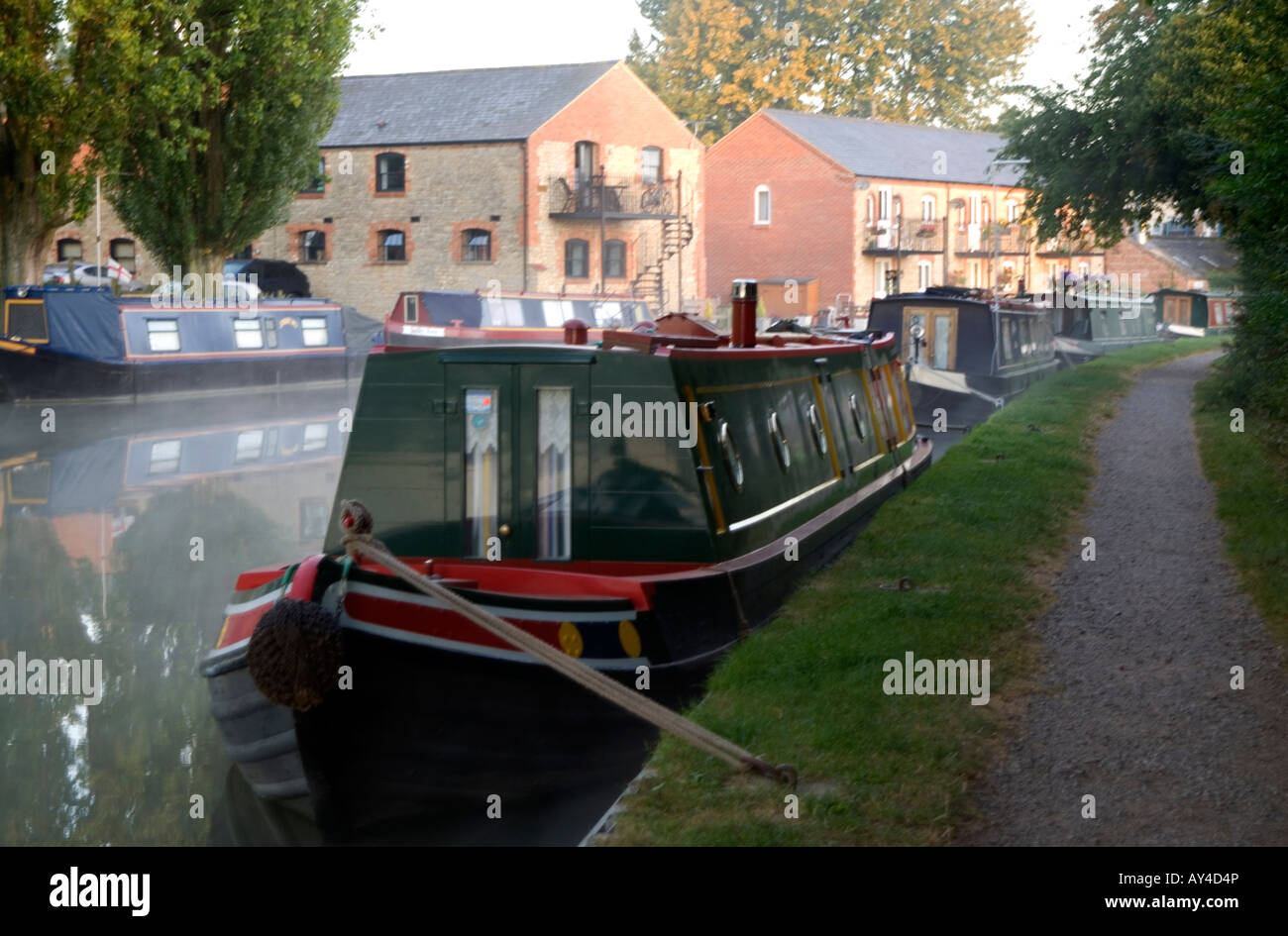 Doug Blane Narroboats morred at Cosgrove on the Grand Union canal Stock Photo