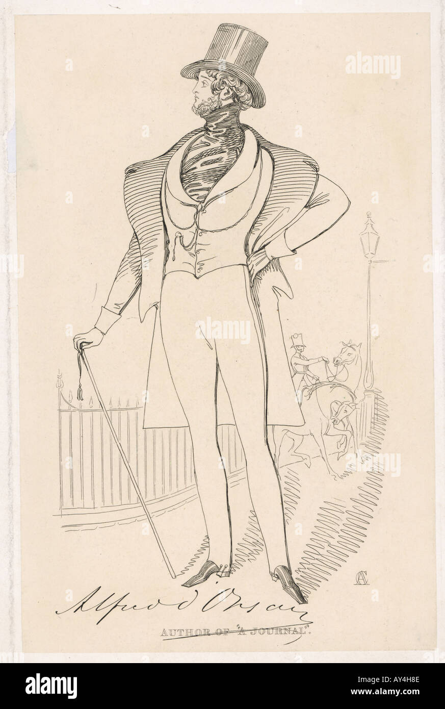 Count Dorsay Maclise - Stock Image