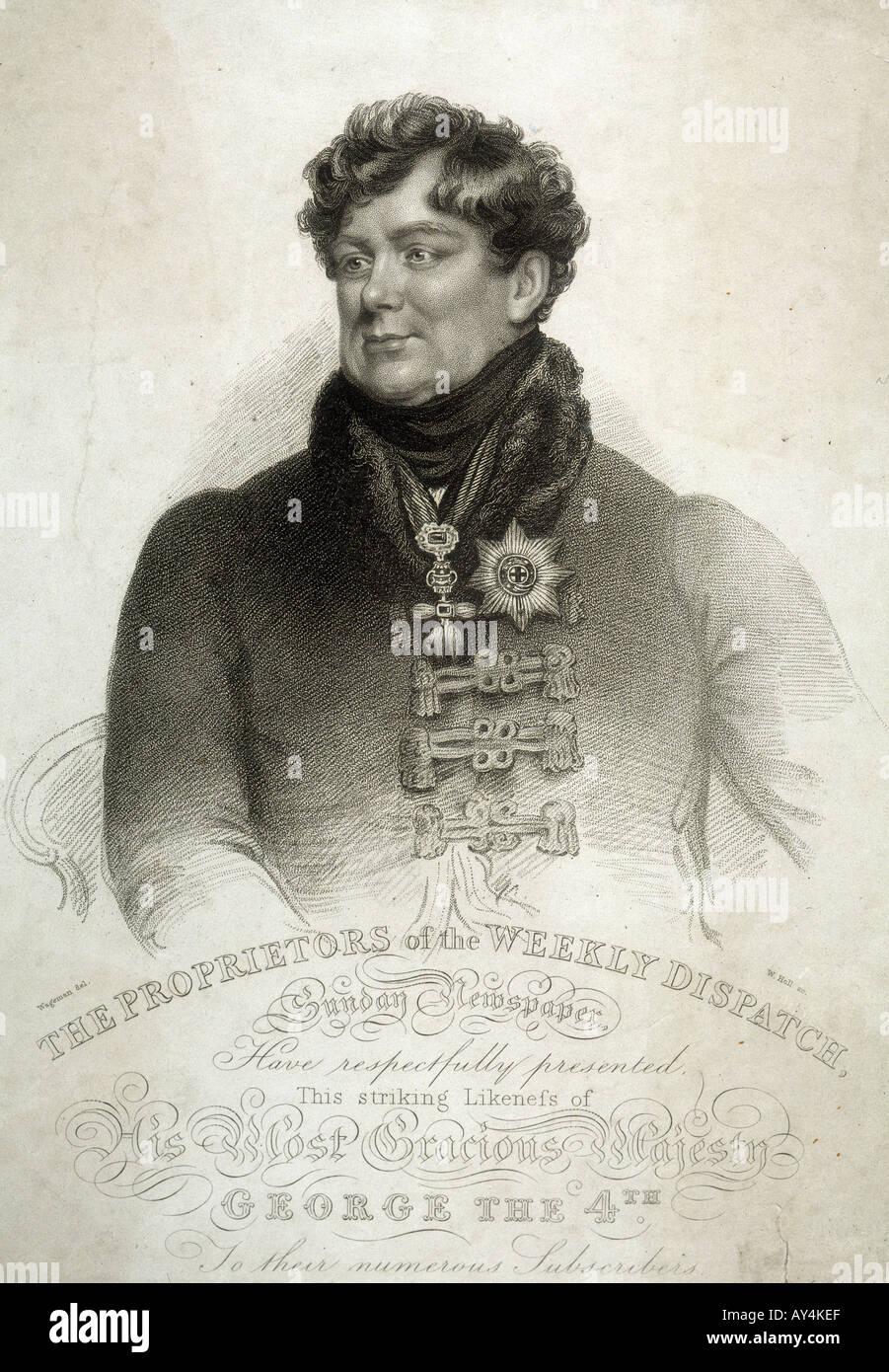 King George Iv Wageman - Stock Image